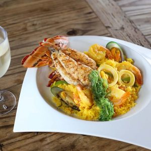 Paella with Lobster and Shrimp